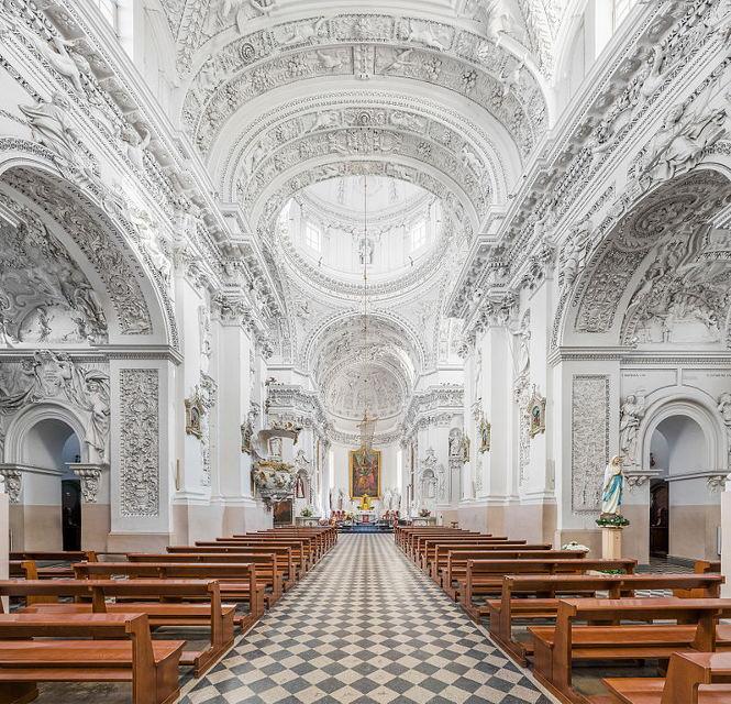 Interior of St. Peter & Paul Church in Vilnius