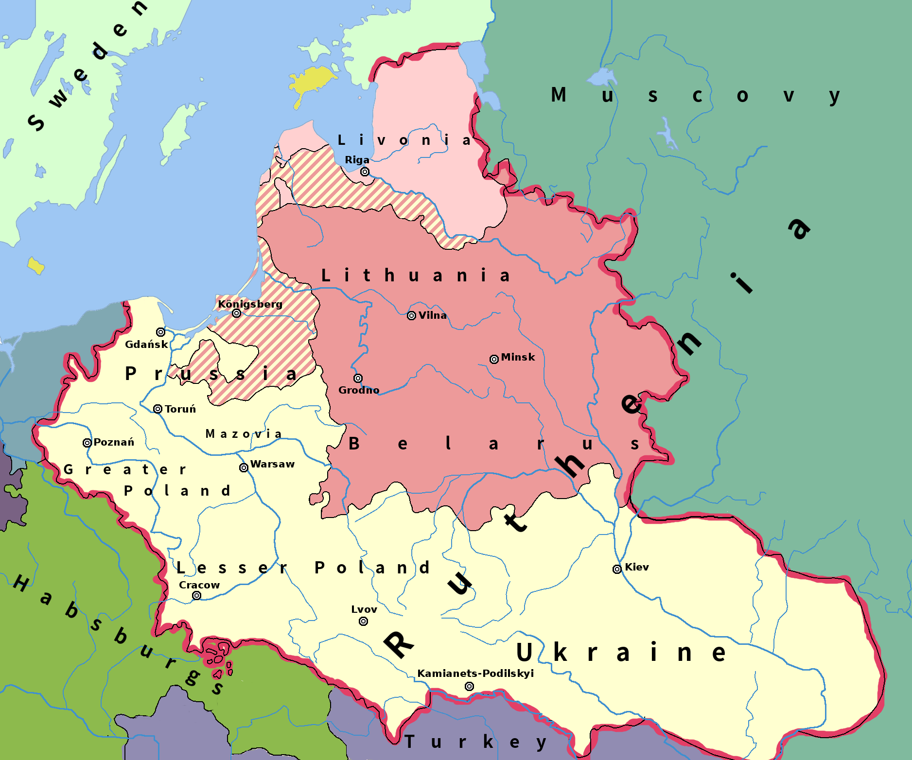 Regions of the Republic around 1600