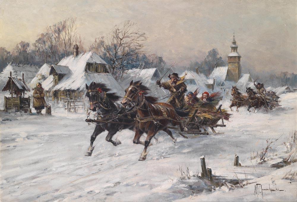 Wild sleigh ride